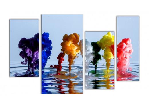 Цветной дым над водой
