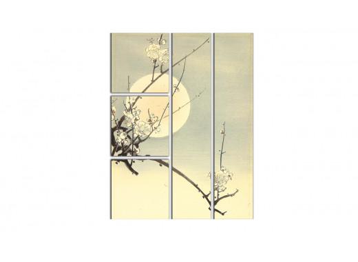 Картина цветущей сакуры в японском стиле