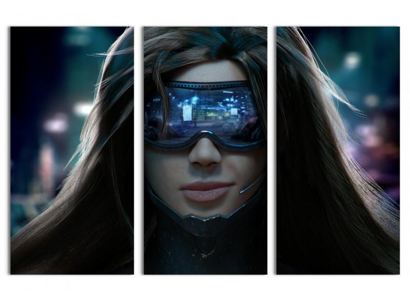 """Модульная картина - """"Красотка из будущего"""""""