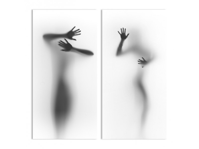 "Модульная картина - ""За запотевшим стеклом"""