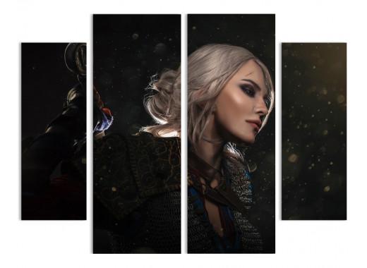 """Модульная картина - """"Цири - героиня из игры """"Ведьмак 3"""""""
