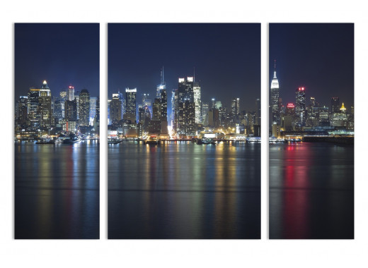 """Модульная картина - """"Нью-Йорк под покровом ночи"""""""