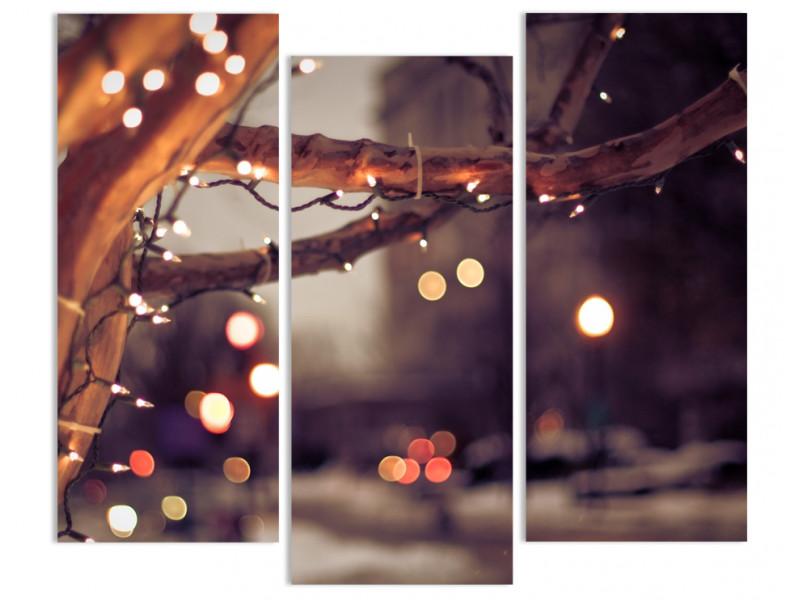 """Модульная картина - """"Рождественские огни"""""""