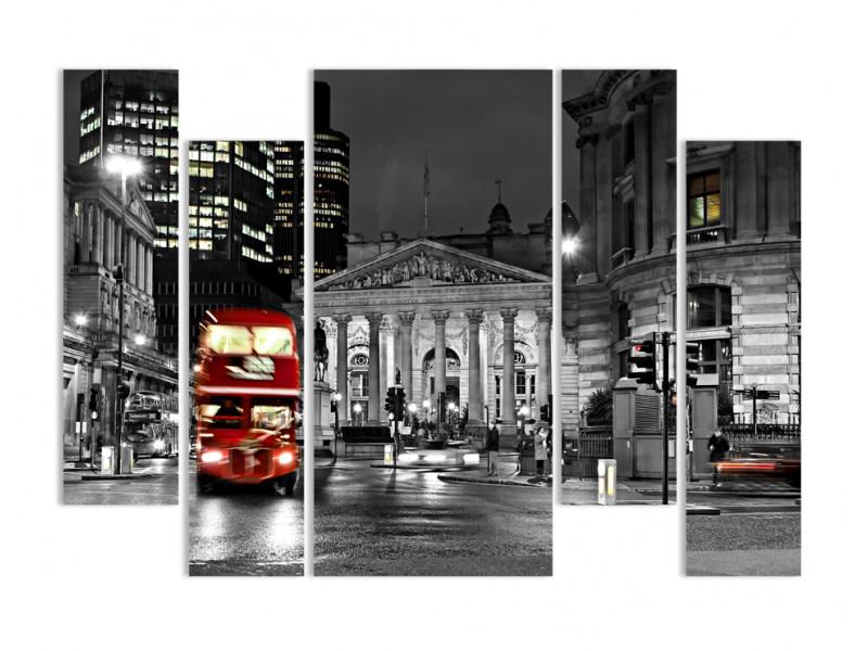 """Модульная картина - """"Красно-серый Лондон"""""""
