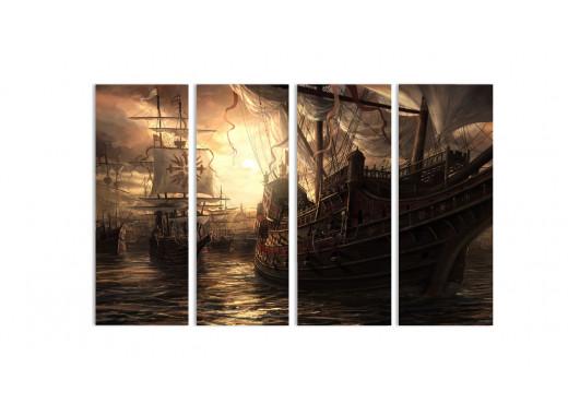 "Модульная картина - ""Тихий порт"""