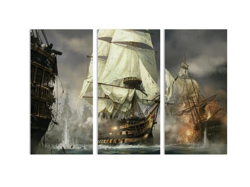 """Модульная картина - """"Морской бой"""""""