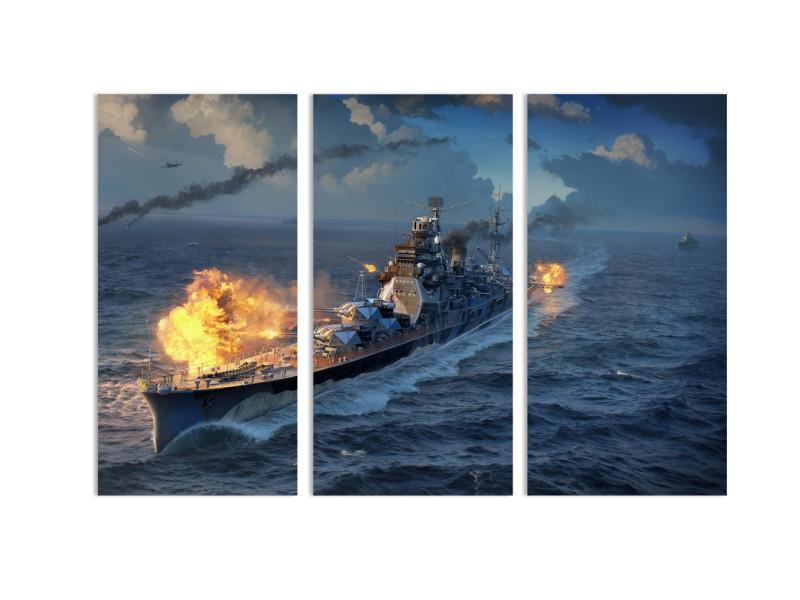 """Модульная картина - """"Мощь морского флота"""""""