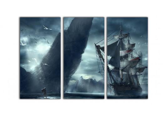"""Модульная картина - """"Возвращение на корабль"""""""