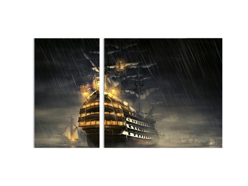 "Модульная картина - ""Дождливая бухта"""