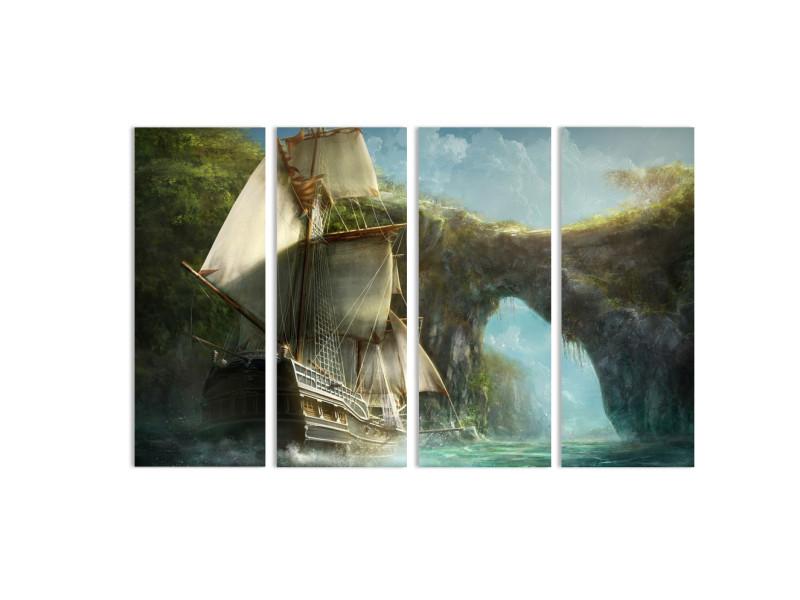 """Модульная картина - """"В окружении джунглей"""""""