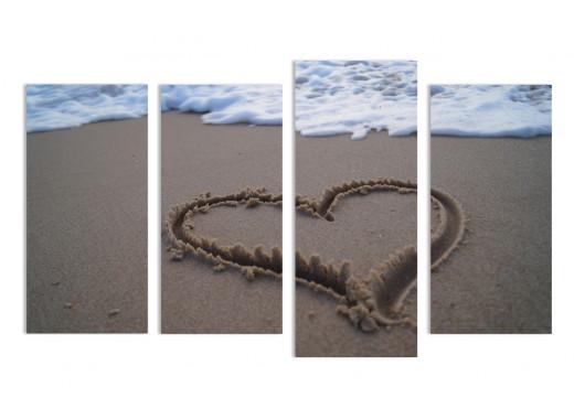 """Модульная картина - """"Влюбленный пляж"""""""