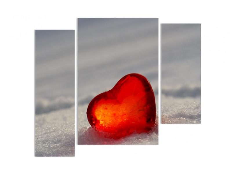 "Модульная картина - ""Янтарь на снегу"""