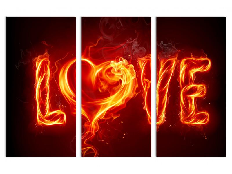 """Модульная картина - """"Огненная страсть"""""""