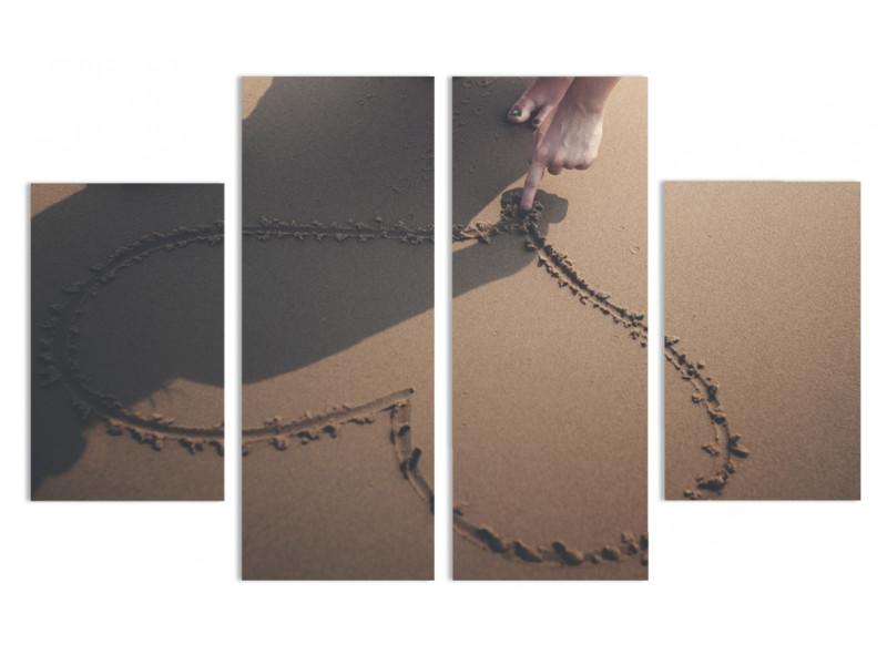 """Модульная картина - """"Пальцем по песку"""""""