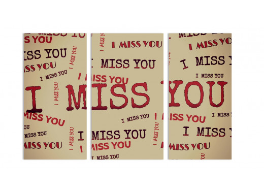 "Модульная картина - ""I Miss you"""