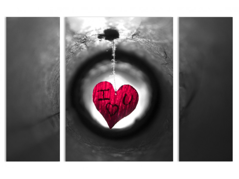 """Модульная картина - """"Любовь, заблудившаяся в тоннеле"""""""
