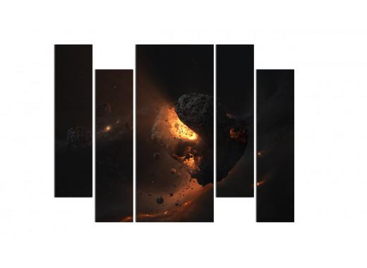 Горящее сердце астероида