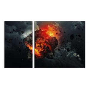 Астероид воспламеняется в атмосфере