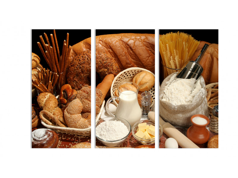 "Модульная картина - ""Хлеб и молоко"""