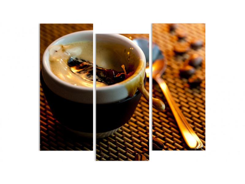 """Модульная картина - """"Насыщенный кофейный напиток"""""""