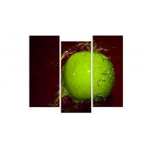 """Модульная картина - """"Зеленое яблоко"""""""