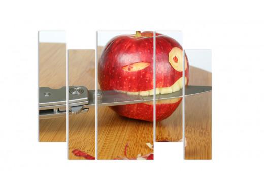 """Модульная картина - """"Хищное яблоко"""""""