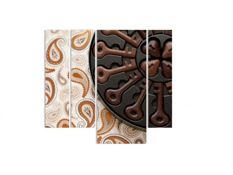 """Модульная картина - """"Шоколадные ключики"""""""
