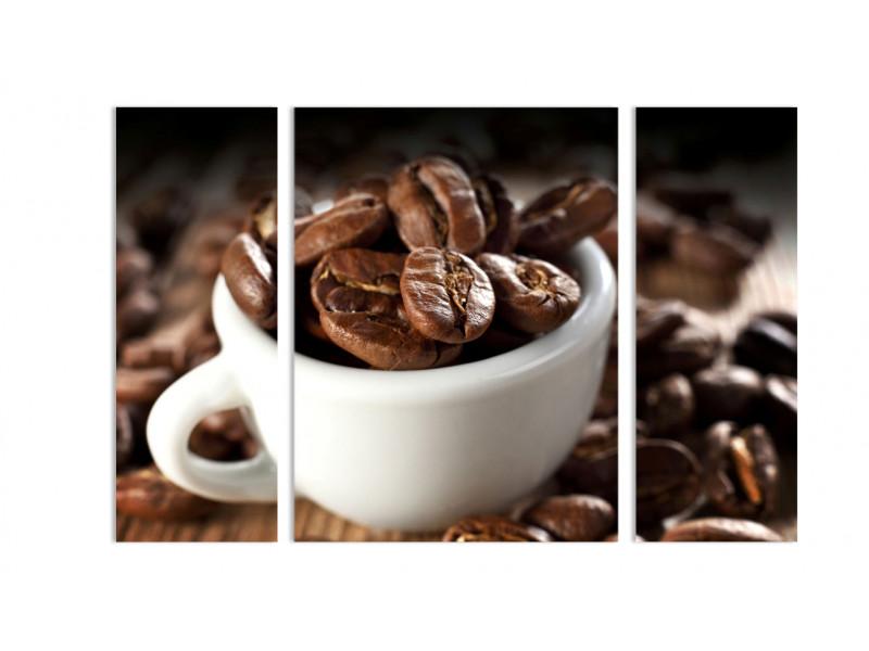 """Модульная картина - """"Жареные кофейные зерна"""""""