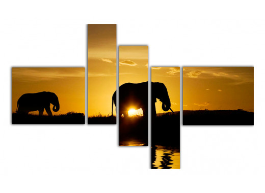 Слоники на закате